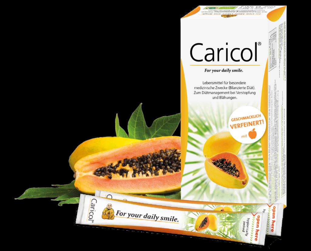 Caricol®mit der Karft aus der Papaya bei Verstopfung und Blähungen