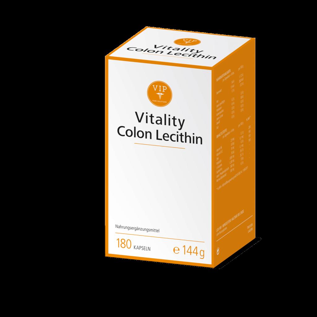 Vitality Colon Lecithin kombiniert hochwertiges Phosphatidylcholin mit wichtigen Vitaminen, Spurenelementen, Pflanzenstoffen und Aminosäuren