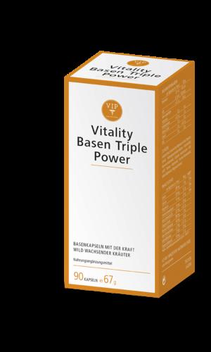 Vitality Basen Triple Power vereint auf einzigartige Weise wertvolle Mineralstoffe und die Kraft bewährter Pflanzenstoffe.